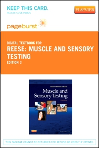 cover image - Muscle and Sensory Testing - Elsevier eBook on VitalSource (Retail Access Card),3rd Edition