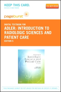 cover image - Introduction to Radiologic Sciences and Patient Care - Elsevier eBook on VitalSource (Retail Access Card),5th Edition
