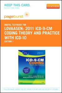 cover image - 2011 ICD-9-CM Coding Theory and Practice with ICD-10 - Elsevier eBook on VitalSource (Retail Access Card)