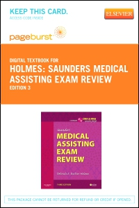cover image - Saunders Medical Assisting Exam Review - Elsevier eBook on VitalSource (Retail Access Card),3rd Edition