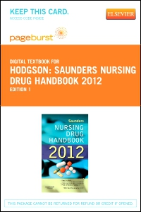 cover image - Saunders Nursing Drug Handbook 2012 - Elsevier eBook on VitalSource (Retail Access Card)