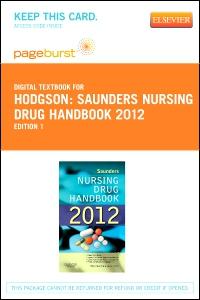 Saunders nursing drug handbook 2018 e book barbara b hodgson