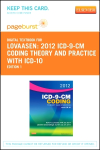 cover image - 2012 ICD-9-CM Coding Theory and Practice with ICD-10 - Elsevier eBook on VitalSource (Retail Access Card)