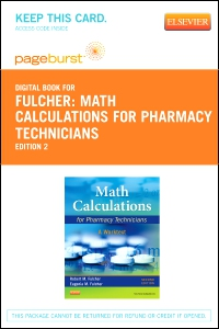 cover image - Math Calculations for Pharmacy Technicians - Elsevier eBook on VitalSource (Retail Access Card),2nd Edition
