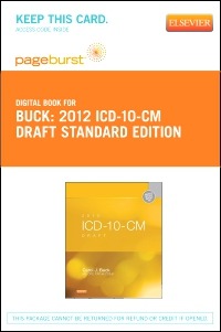cover image - 2012 ICD-10-CM Draft Standard Edition - Elsevier eBook on VitalSource (Retail Access Card)