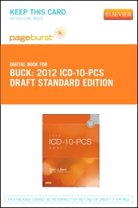 cover image - 2012 ICD-10-PCS Draft Standard Edition - Elsevier eBook on VitalSource (Retail Access Card)