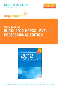 cover image - 2012 HCPCS Level II Professional Edition - Elsevier eBook on VitalSource (Retail Access Card)