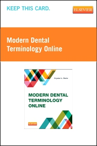 cover image - Modern Dental Terminology Online (Retail Access Card)