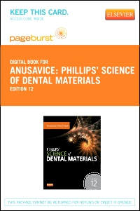 cover image - Phillips' Science of Dental Materials - Elsevier eBook on VitalSource (Retail Access Card),12th Edition