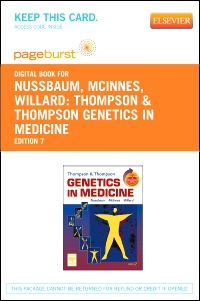 cover image - Thompson & Thompson Genetics in Medicine - Elsevier eBook on VitalSource (Retail Access Card),7th Edition