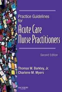 cover image - Practice Guidelines for Acute Care Nurse Practitioners - Elsevier eBook on VitalSource,2nd Edition