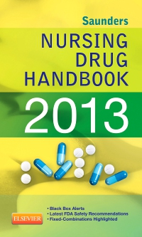 cover image - Saunders Nursing Drug Handbook 2013 - Elsevier eBook on VitalSource
