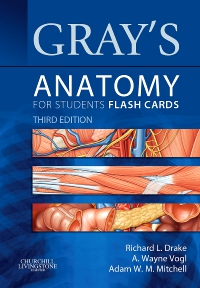 cover image - Gray's Anatomy for Students Flash Cards,3rd Edition