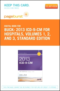 cover image - 2013 ICD-9-CM for Hospitals, Volumes 1, 2 and 3 Standard Edition - Elsevier eBook on VitalSource (Retail Access Card)