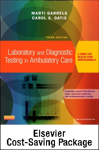 cover image - Laboratory and Diagnostic Testing in Ambulatory Care - Text and Workbook Package,3rd Edition