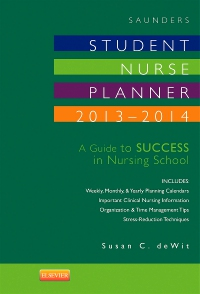 cover image - Saunders Student Nurse Planner, 2013-2014 - Elsevier eBook on VitalSource,9th Edition