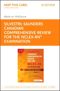 cover image - Saunders Canadian Comprehensive Review for the NCLEX-RN Examination - Elsevier eBook on VitalSource (Retail Access Card)