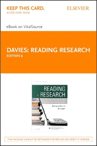 cover image - Reading Research - Elsevier eBook on VitalSource (Retail Access Card),6th Edition