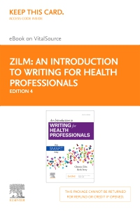 cover image - An Introduction to Writing for Health Professionals - Elsevier eBook on VitalSource (Retail Access Card),4th Edition
