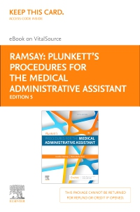 cover image - Plunkett's Procedures for the Medical Administrative Assistant - Elsevier eBook on VitalSource (Retail Access Card),5th Edition