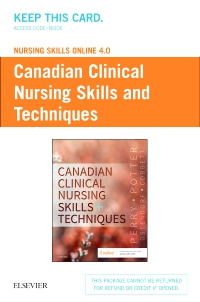 cover image - Nursing Skills Online 4.0 for Canadian Clinical Nursing Skills and Techniques (User Guide and Access Code)