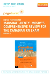 cover image - Mosby's Comprehensive Review for the Canadian RN Exam - Elsevier eBook on VitalSource (Retail Access Card)