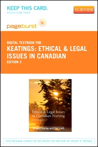 cover image - Ethical & Legal Issues in Canadian - Elsevier eBook on VitalSource (Retail Access Card),3rd Edition